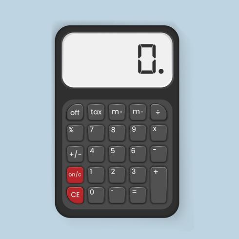 Illustrazione di vettore dell'icona del calcolatore