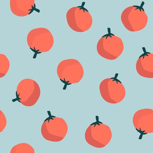 Sinaasappelen op blauwe naadloze patroonvector als achtergrond