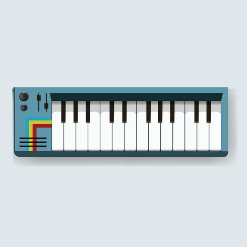 Teclado Eletrônico Digital Instrumento Musical Icon Ilustração Vector
