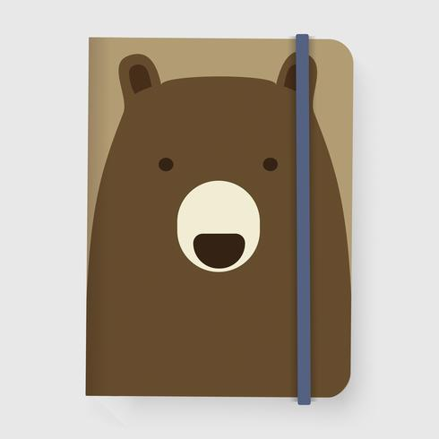 Bear Notebook Graphic Illustration Vector