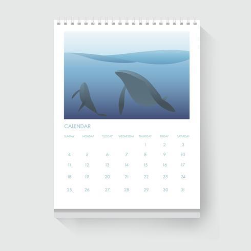 Illustratie van een kalender