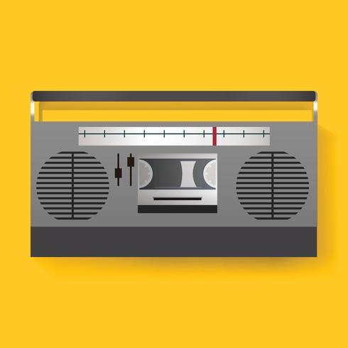 Retro vettore dell'illustrazione dell'icona di media di spettacolo radiofonico