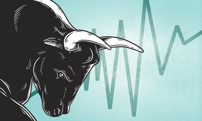 Bull Market Artwork pictogram bedrijfsconcept