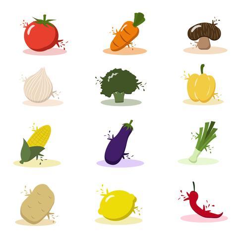 Cartoon Gemüse und Obst
