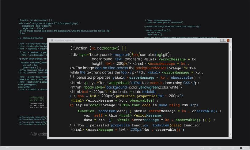 Ilustração, de, computador, hacking, código