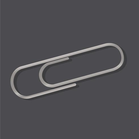 Gráfico de ícone de ilustração vetorial de anexo de clip