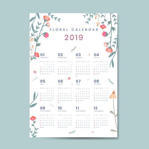 Blom kalender kalender mockup