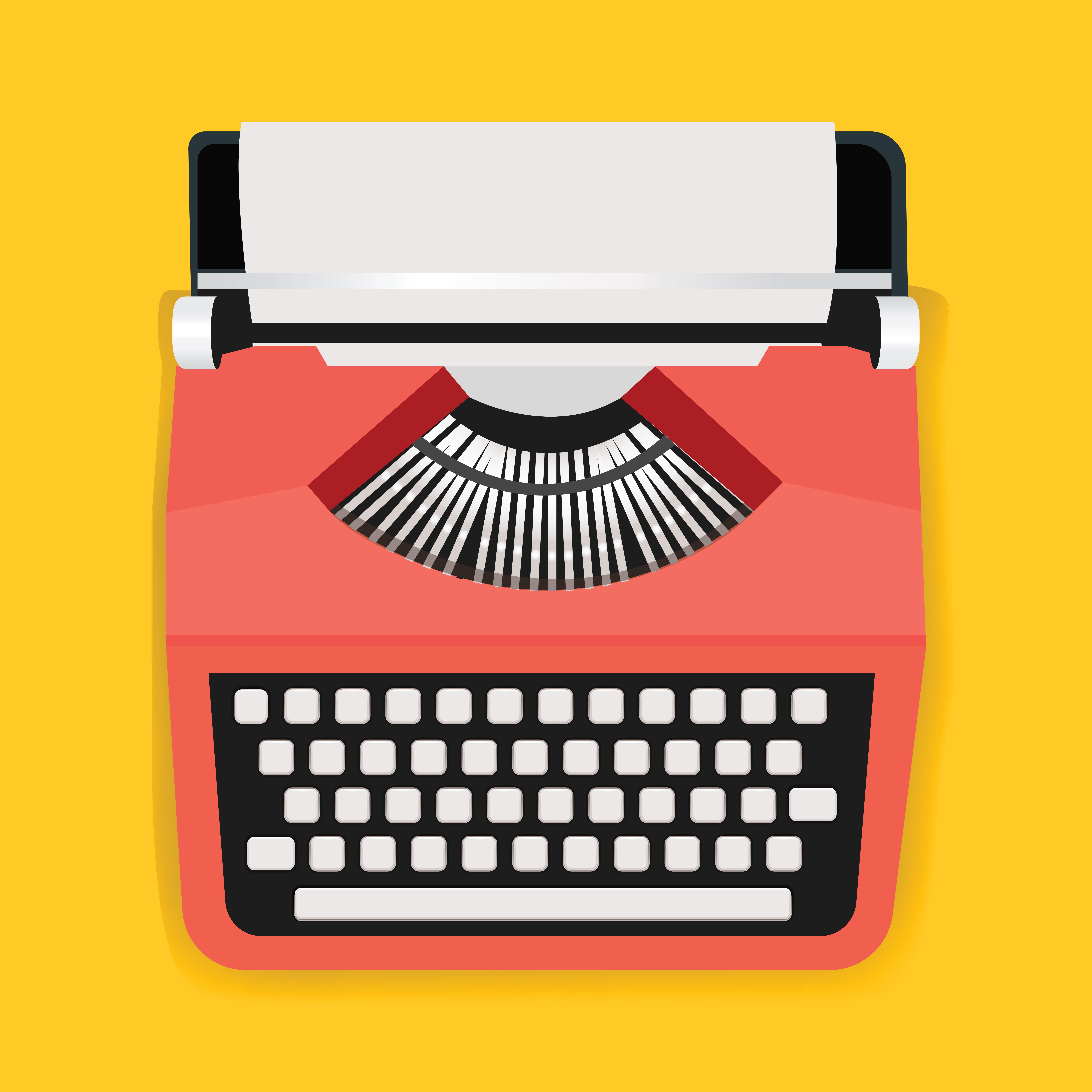 Retro Typewriter Machine Icon Illustration Vector ...