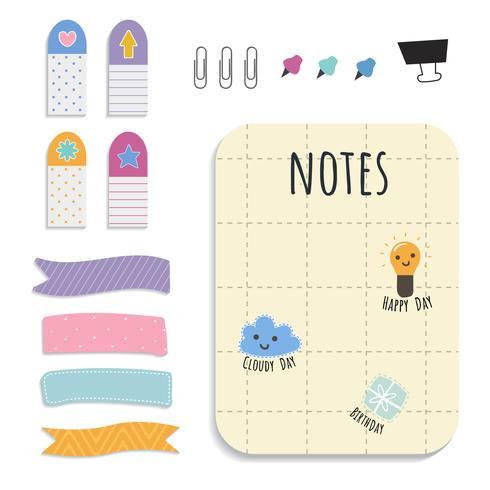 Buntes Briefpapier-Set