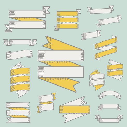 Ilustração, de, fita, bandeira, cobrança