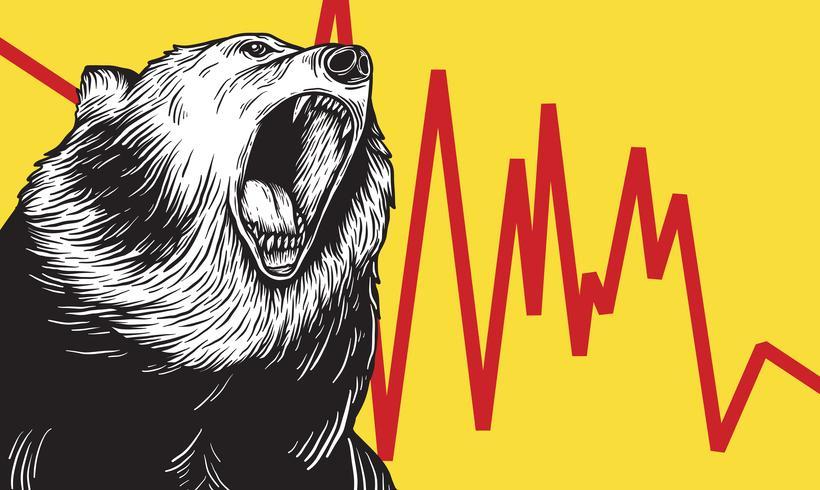 Bear Market Icon Symbole Concept De Vecteur