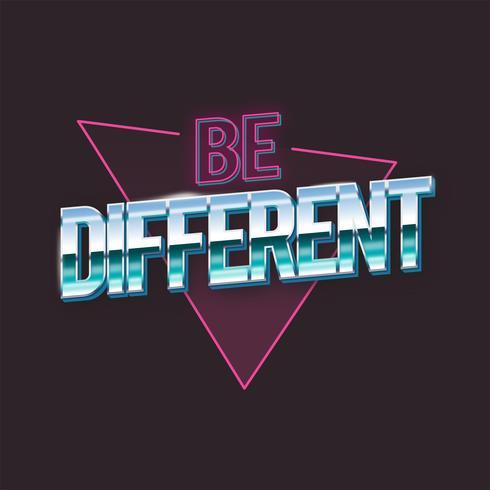 Seja diferente tipografia vector
