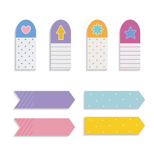 Colorful sticky note set