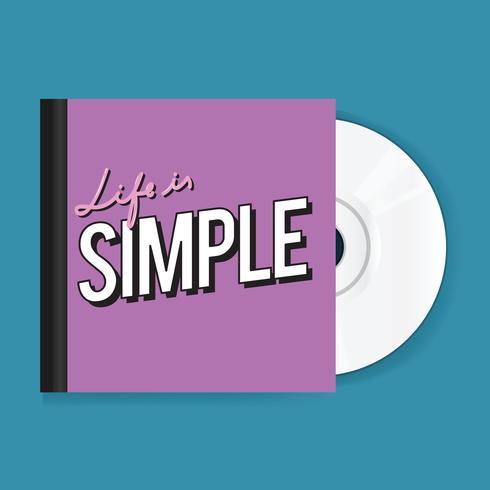 CD de música disco com tampa ícone ilustração Vecto