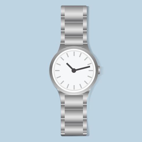 Vetor de moda acessório de tempo de relógio de pulso