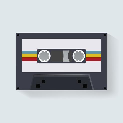 Retro cassette tape muziek record pictogram illustratie vector