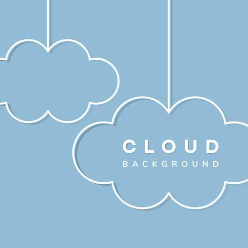 Cloud storage background