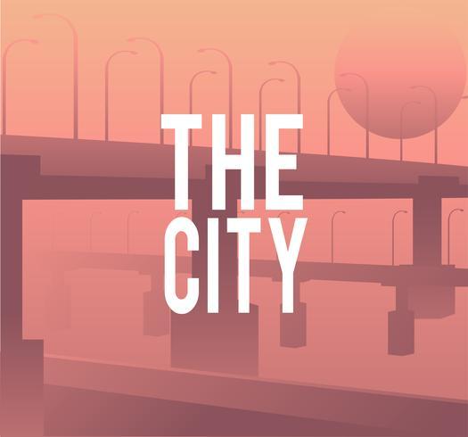 Ilustração, de, um, cidade