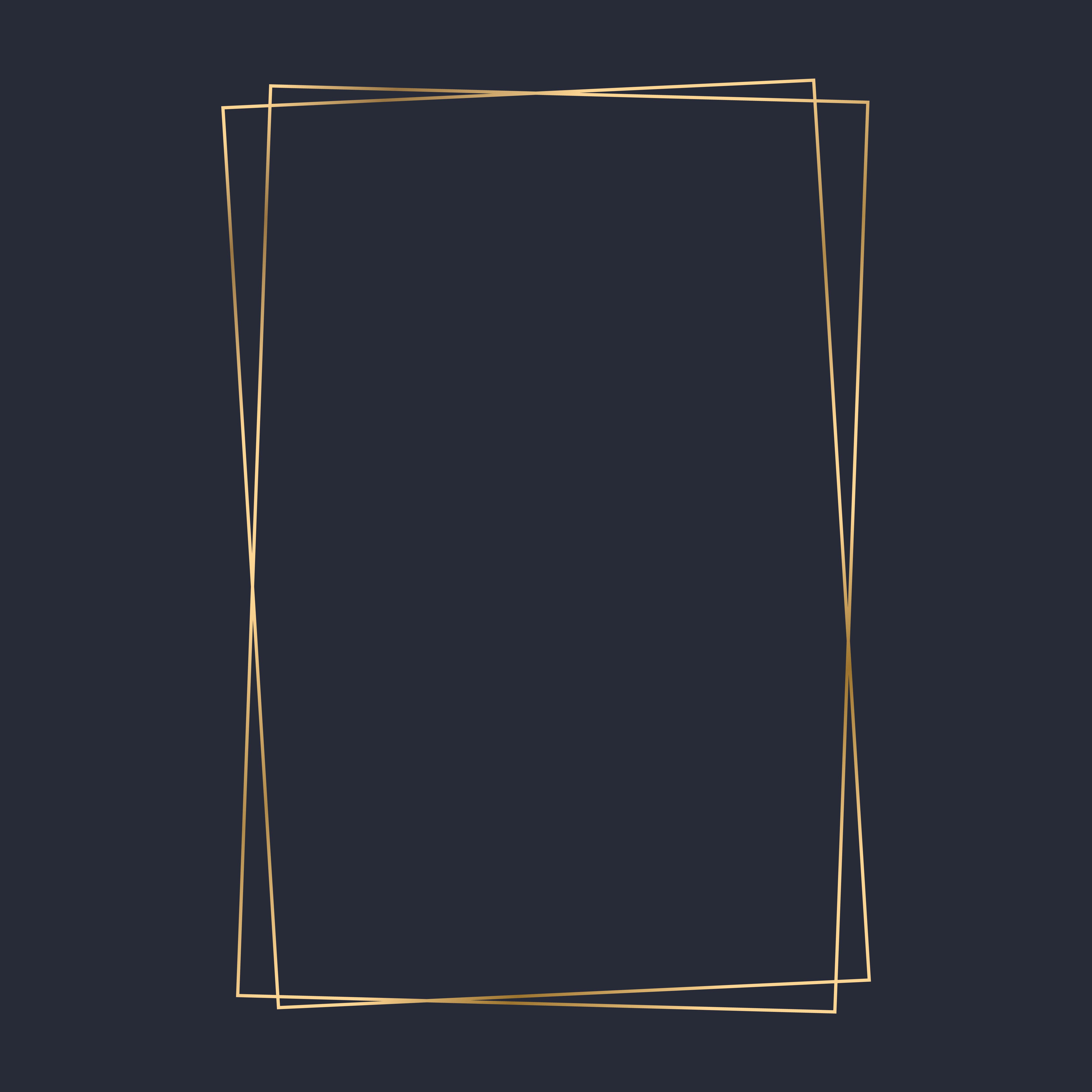 Golden Rectangle Frame Template Vector