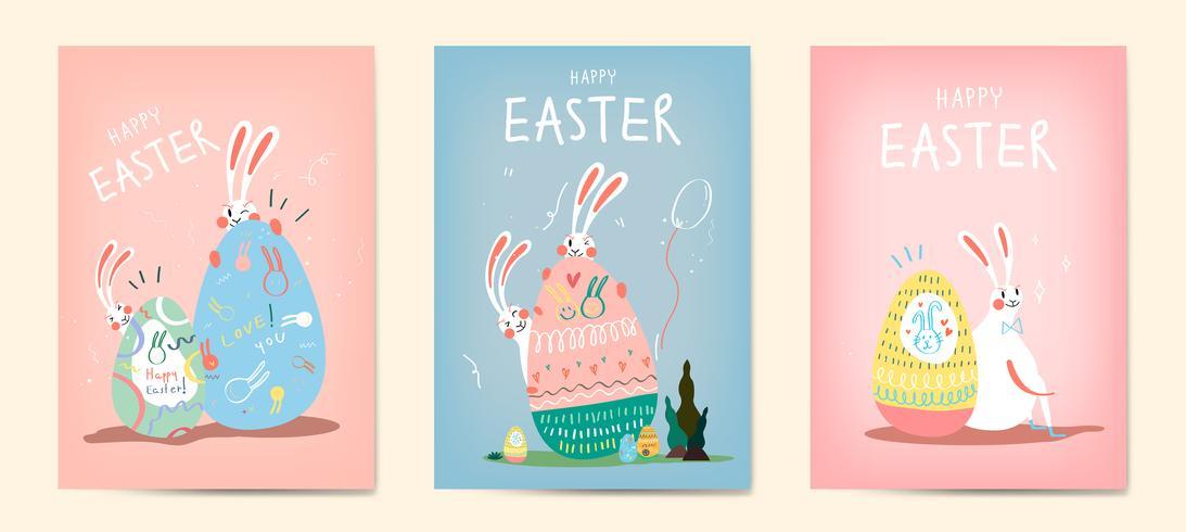 Collection d'illustration fête de Pâques