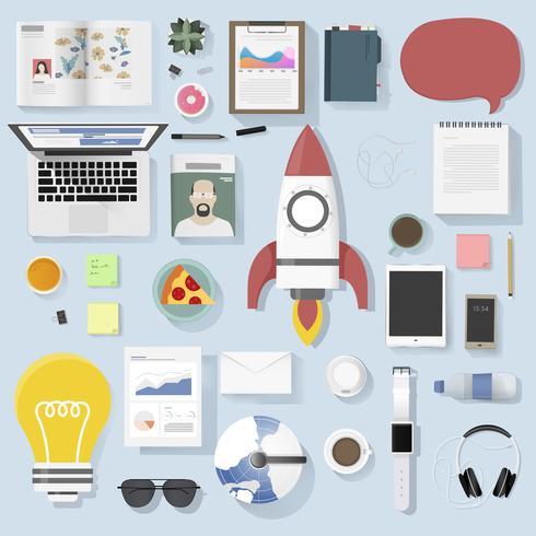 Ilustração, de, negócio, ícones, jogo
