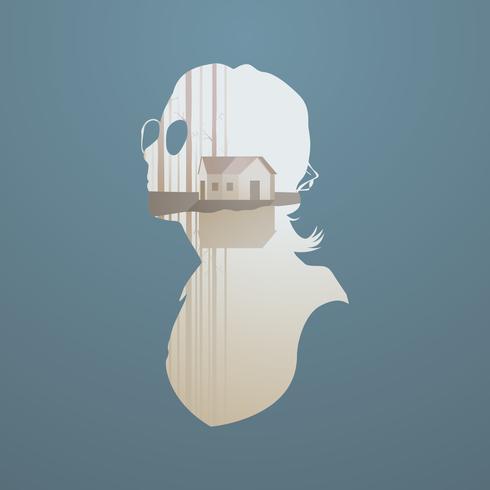Illustrazione della silhouette umana