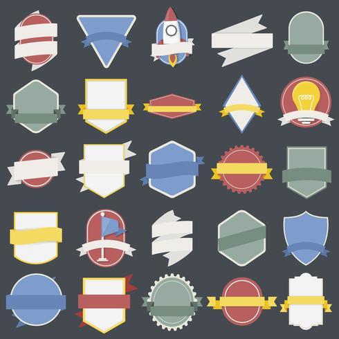 Illustratie van badges collectie