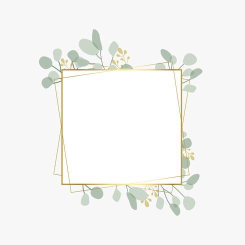 Emblema de casamento botânico
