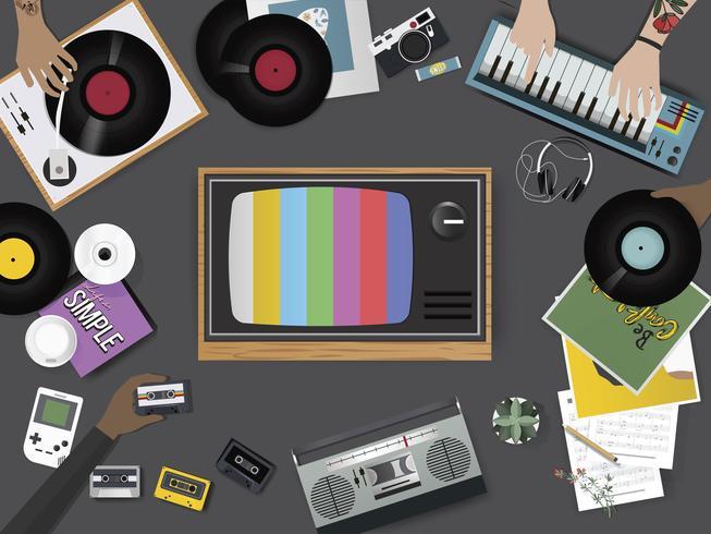 Illustration de la musique vintage