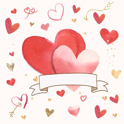 Dia dos Namorados icon ilustração em aquarela