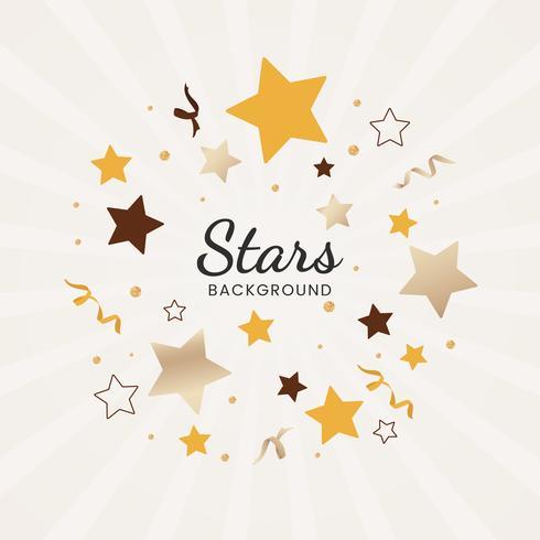 Ilustração de fundo de estrelas