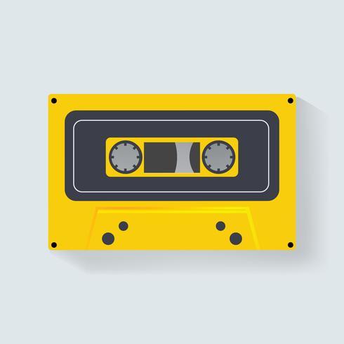 Illustratie van een cassetteband