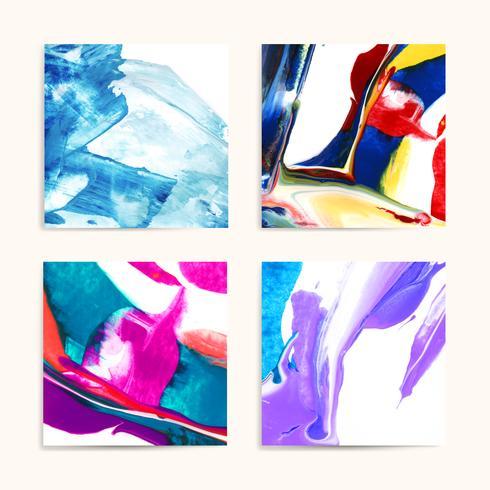 Pinturas acrílicas mixtas vector