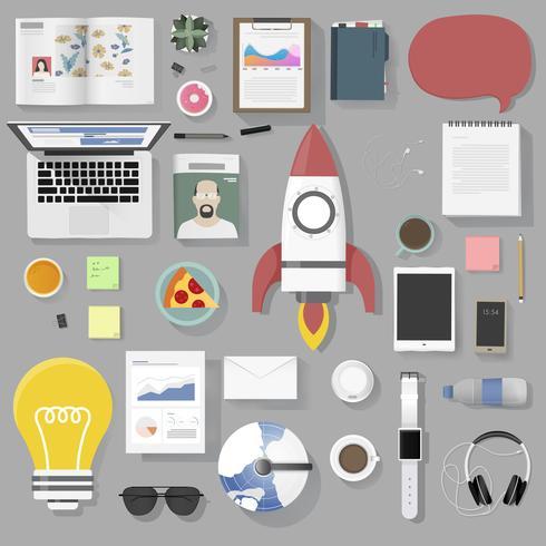 Ilustración de conjunto de iconos de negocios