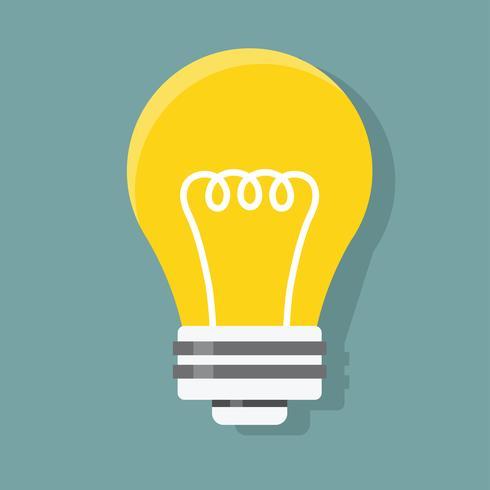 Grafico dell'icona del vettore dell'illustrazione della lampadina