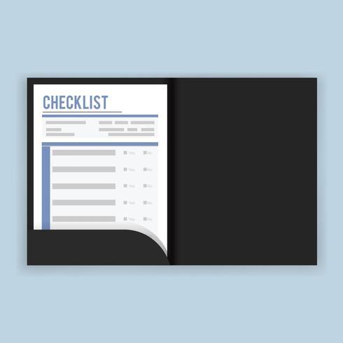 Checklista frågeundersökningen vektor illustration