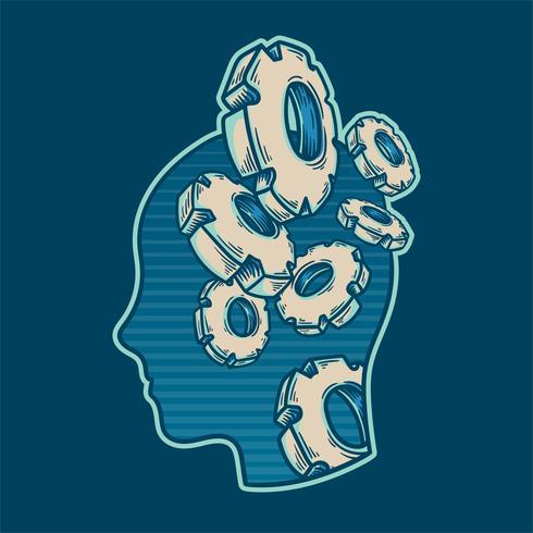 De hersenen werkende vector