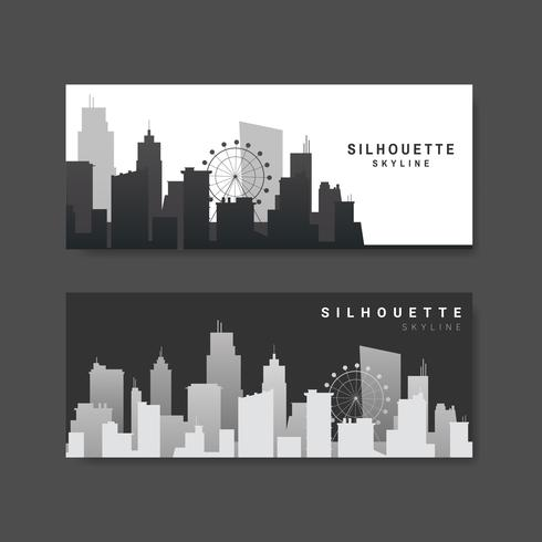 Silhouette skyline illustration samling