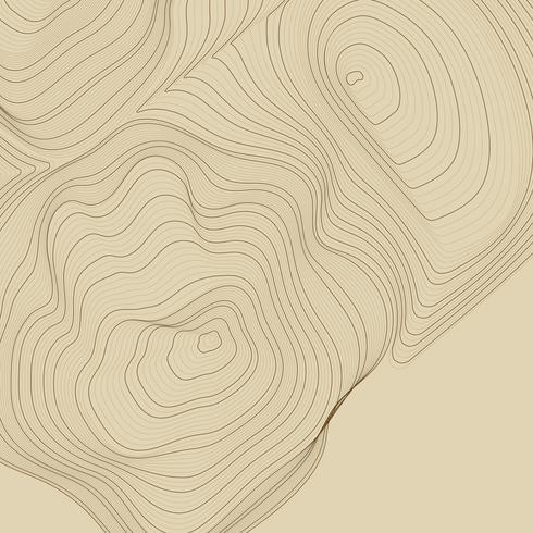Brun abstrakt konturlinje illustration