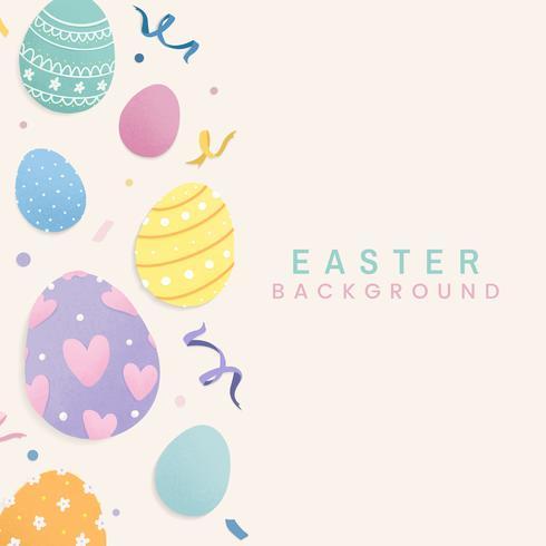 Conception de cartes de Joyeuses Pâques