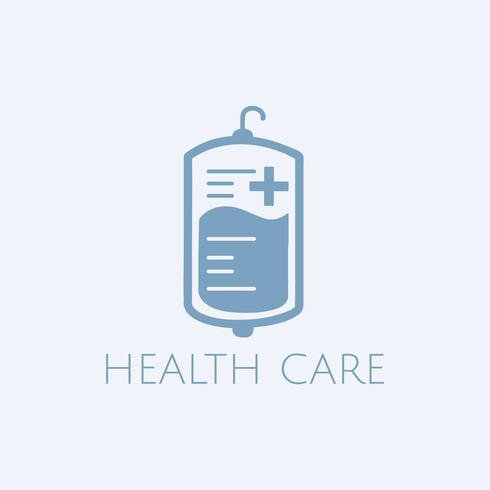 Bloeddonatie gezondheidszorg vector