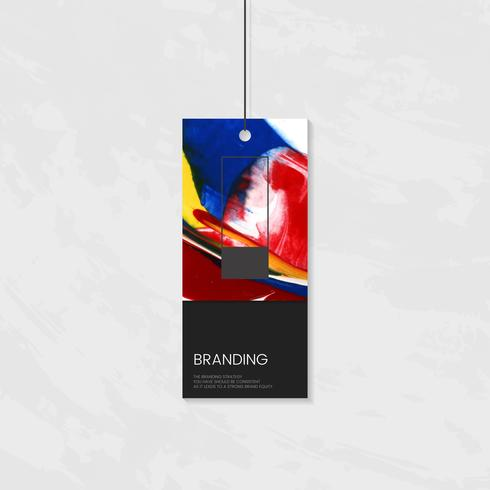Clothing tag with artistic design