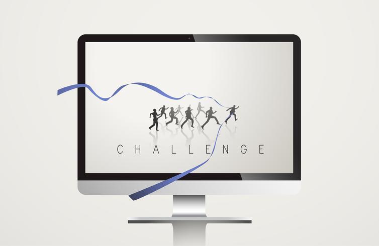 Conceito de vetor de missão de desenvolvimento de desafio