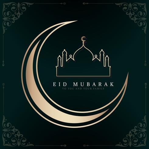 Illustrazione celebrativa di Eid Mubarak