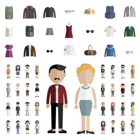 Illustration of diverse people