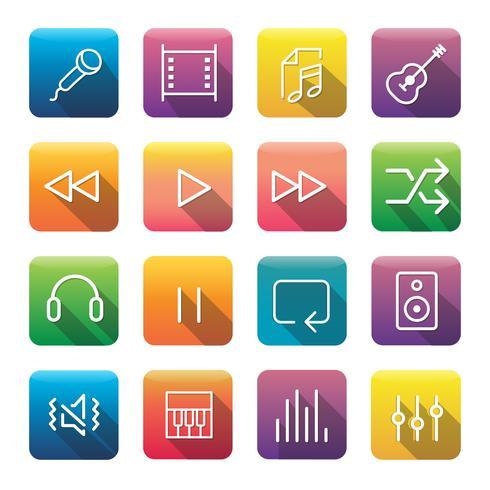 Conjunto de iconos y símbolos.