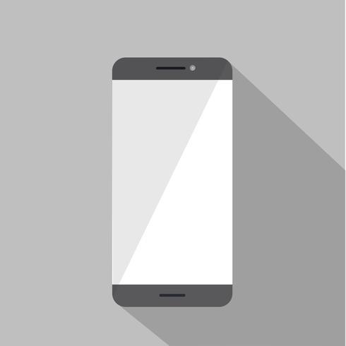 Illustration av mobiltelefon isolerad