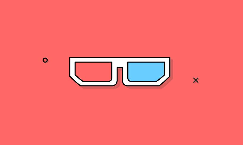 Illustration of 3D glasses icon