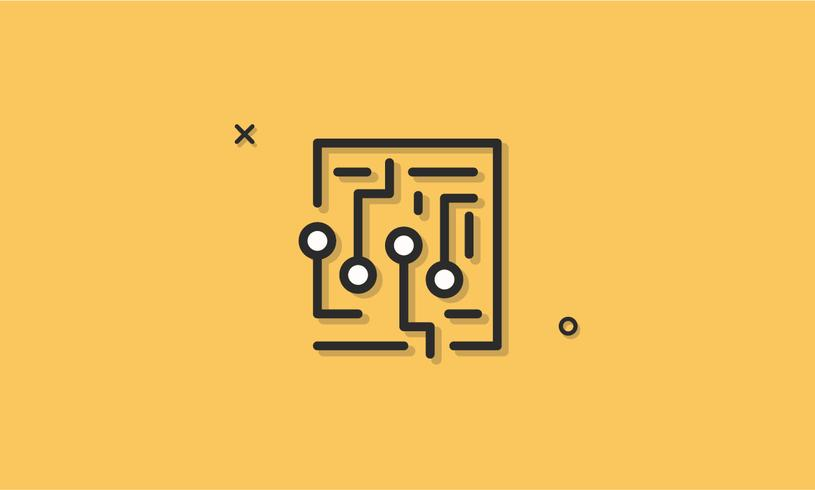 Labyrinth Maze Vector Icon Concept