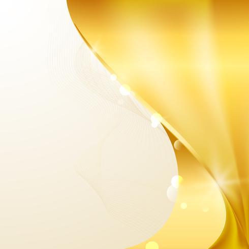Guldvåg abstrakt bakgrunds illustration